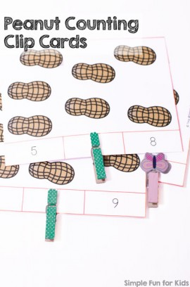 Peanut Counting Clip Cards