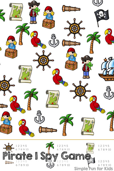 Printable Pirate I Spy Game