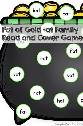 Pot of Gold -at Family Read and Cover Game