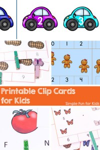 Check out all the fun and educational printable clip cards Simple Fun for Kids is sharing! They cover many math, literacy, and other concepts for toddlers, preschoolers, and kindergartners