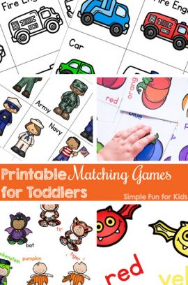 Printable Matching Games for Toddlers