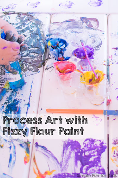 Process Art with Fizzy Flour Paint