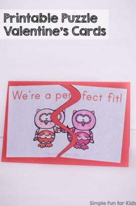 Printable Puzzle Valentine's Cards