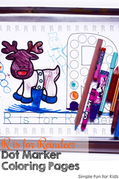 R For Reindeer Worksheet Day 12: R is for Reind...
