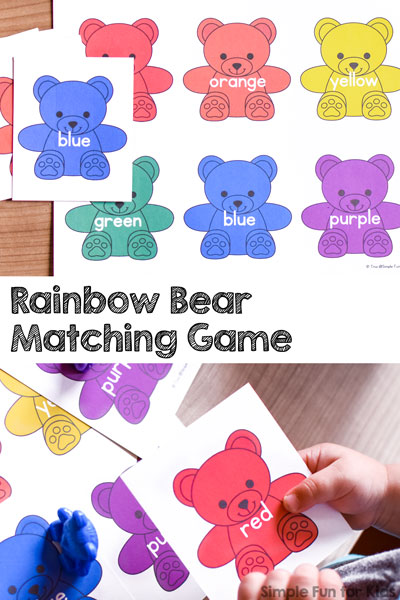 Rainbow Bear Matching Game