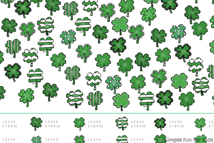 Shamrock I Spy Game Printable - Simple Fun for Kids