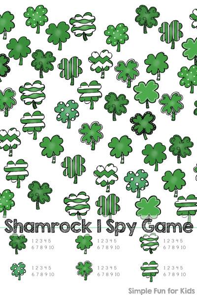 Shamrock I Spy Game Printable