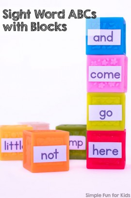 Sight Word ABCs with Blocks
