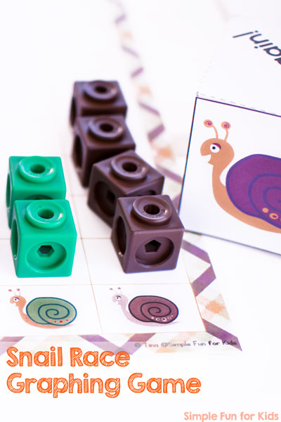 Snail Race Graphing Game Printable