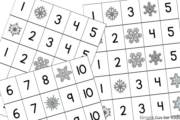 Snowflake Fill in the Missing Number 1-10 Printable - Simple Fun ...