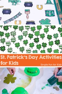 Check out these fun and simple St. Patrick's Day Activities for Kids on Simple Fun for Kids!
