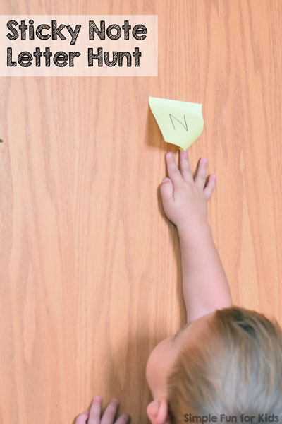Sticky Note Letter Hunt