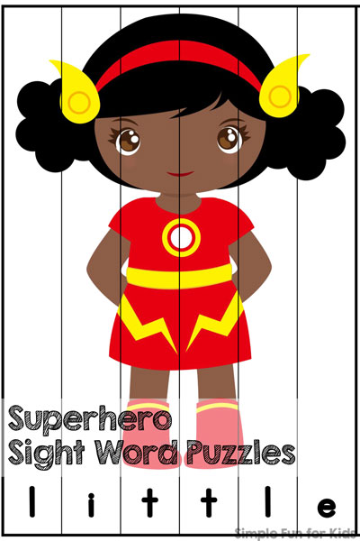 Superhero Sight Word Puzzles