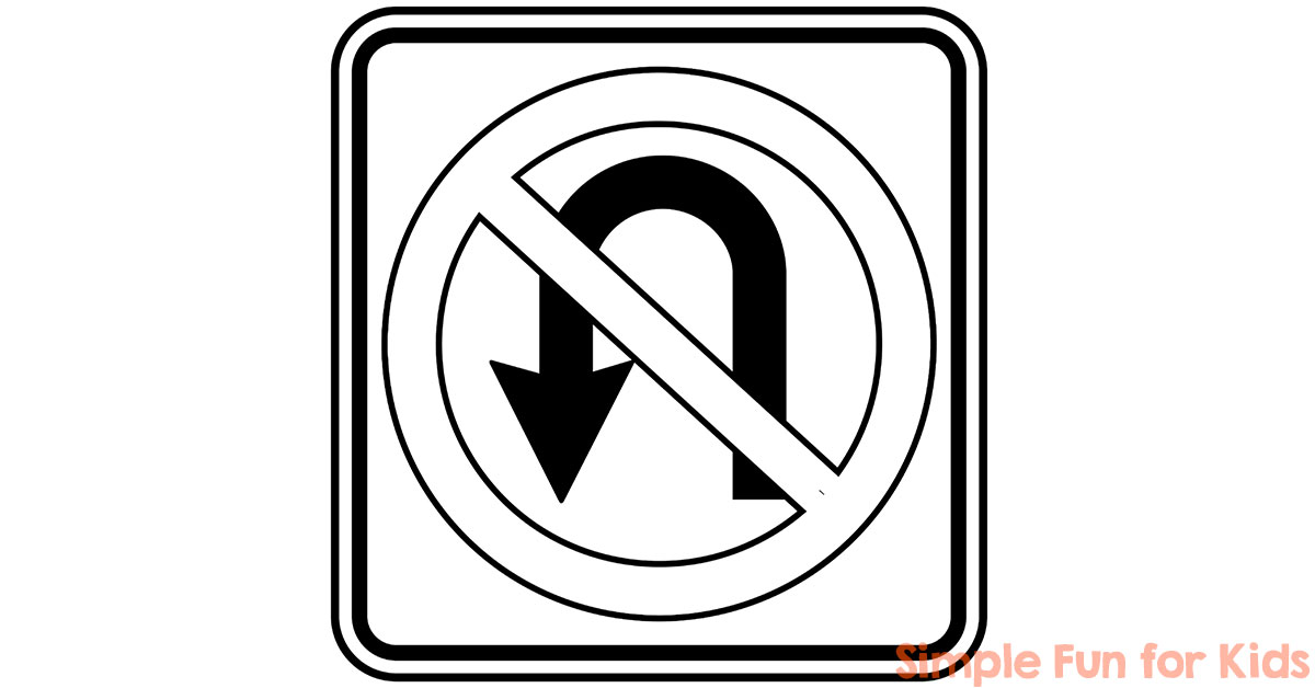Traffic Signs Coloring Pages - Simple Fun for Kids