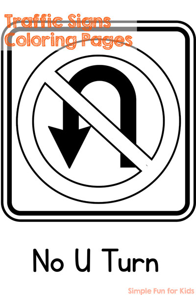 Traffic Signs Coloring Pages Simple Fun for Kids