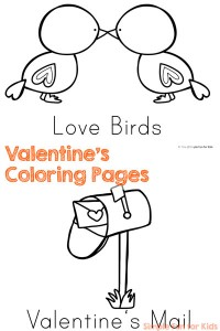 No prep PDF Valentine's Day Coloring Pages! Ten cute images to color and work on fine motor skills for toddlers, preschoolers, and kindergartners.