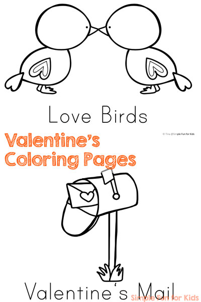 no prep pdf valentines day coloring pages ten cute images to color and work on