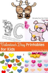 There are so many Valentine's Day Printables for Kids here! Valentine's cards, math, literacy, games, something for everyone from toddlers to kindergarteners and beyond.