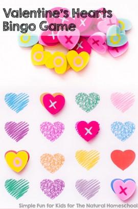 Valentine's Hearts Bingo Game