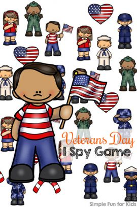 Veterans Day I Spy Game Printable