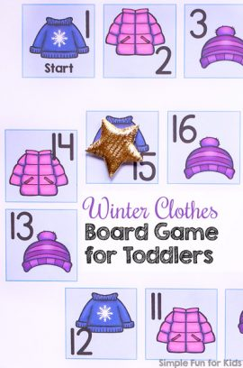 Day 24: Winter Clothes Board Game for Toddlers