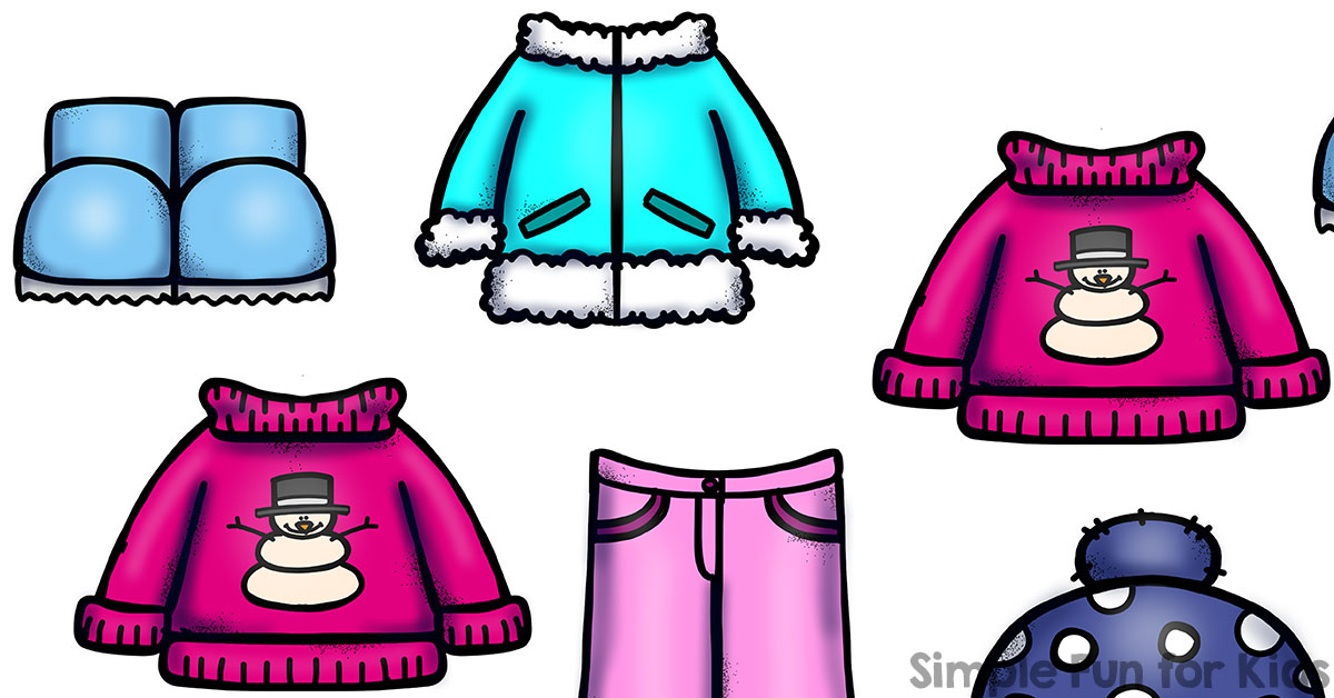 Day 21 Winter Clothes I Spy Game for Toddlers Simple Fun for Kids