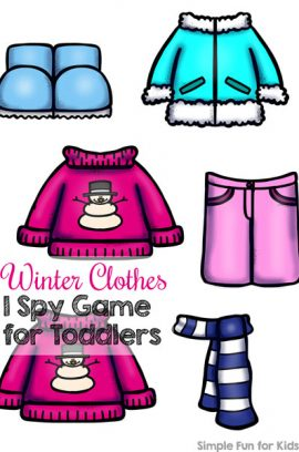 Day 21: Winter Clothes I Spy Game for Toddlers
