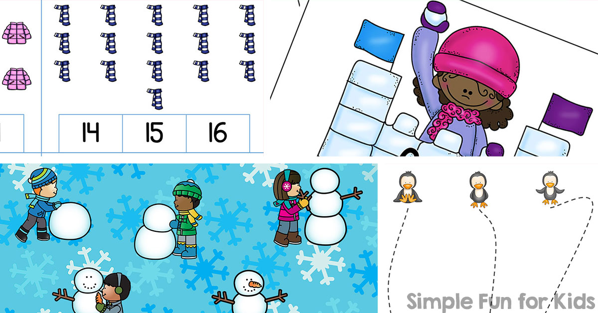 Winter Printables for Kids - Simple Fun for Kids