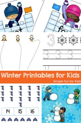 Winter Printables for Kids